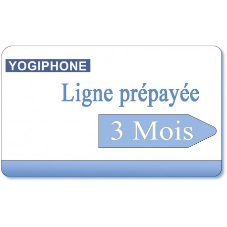 3 month Yogiphone telephone prepaid line rental