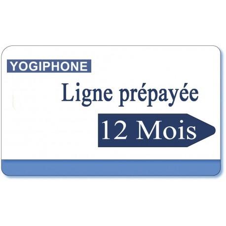 12 month Yogiphone telephone prepaid line rental